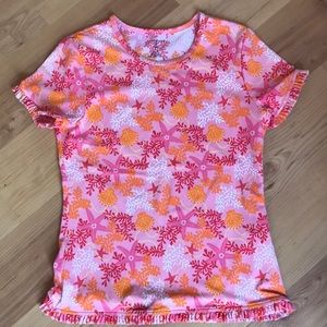 Lands End sunguard shirt - girls size 10/12 (M)